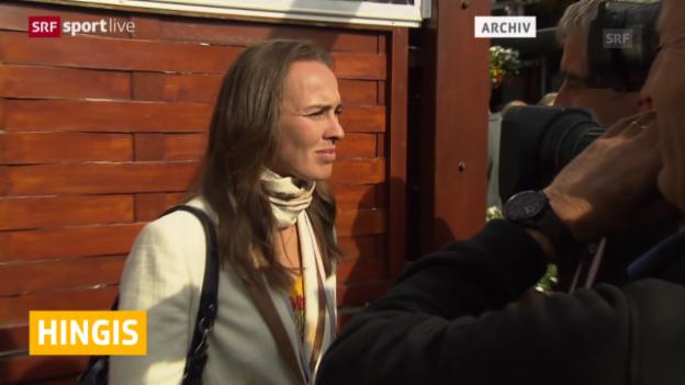 Video «Tennis: Hingis nicht mehr Lisicki-Coach» abspielen