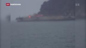 Video «Tanker vor Shanghai droht zu sinken» abspielen