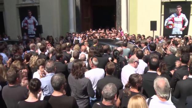 Video «Formel 1: Abschiedsfeier für Jules Bianchi» abspielen