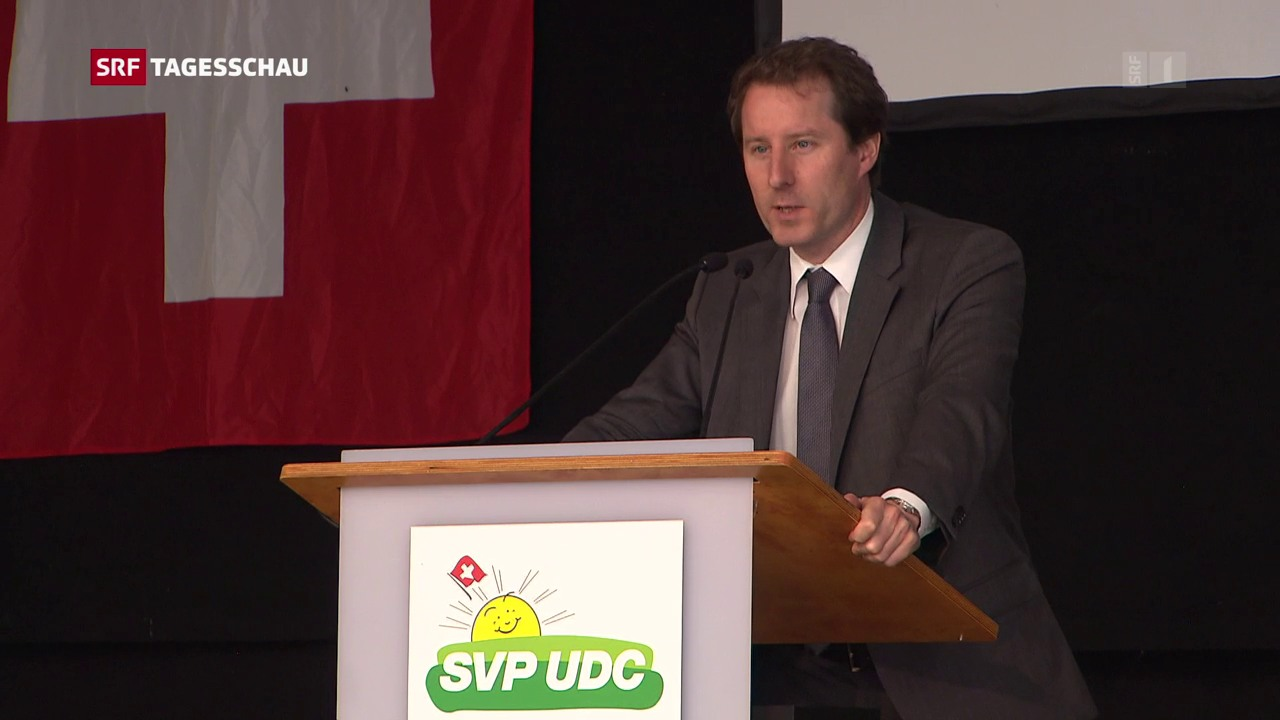 Delegiertenversammlung der SVP in Le Pâquier (NE)