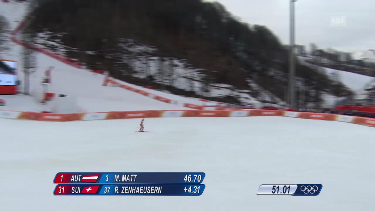Ski Alpin: Slalom der Männer, 1. Lauf von Ramon Zenhäusern (sotschi direkt, 22.2.2014)