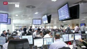 Video «Hektik an den Börsen hält an» abspielen