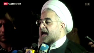 Video «Hassan Rohani offiziell in Amt eingeführt» abspielen