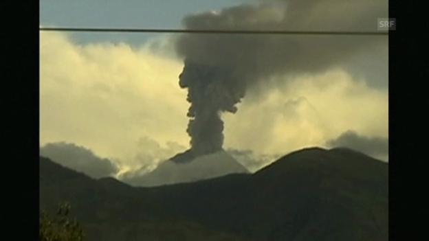 Video «Morgenstimmung am Vulkan Tungurahua (ohne Kommentar)» abspielen