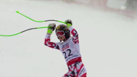 Video «Ski Alpin: WM 2015 Vail/Beaver Creek, Super-G Frauen, die Fahrt von Fenninger» abspielen