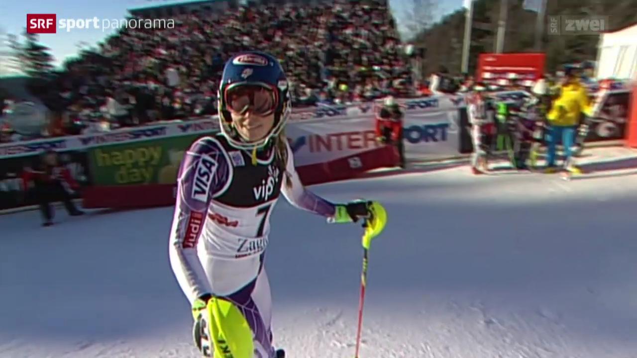 Ski alpin: Weltcup Frauen Slalom in Zagreb