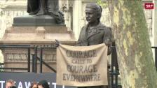 Link öffnet eine Lightbox. Video Londons erste Frauenstatue abspielen