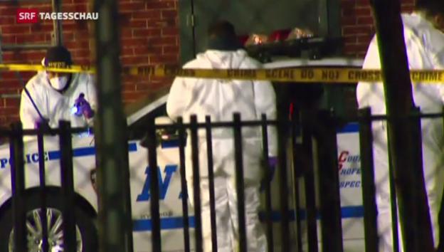 Video «Zwei Polizisten in New York getötet» abspielen