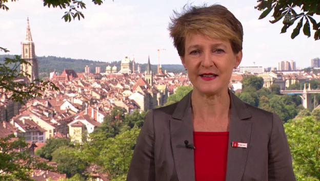 Video «Ansprache von Bundespräsidentin Simonetta Sommaruga» abspielen