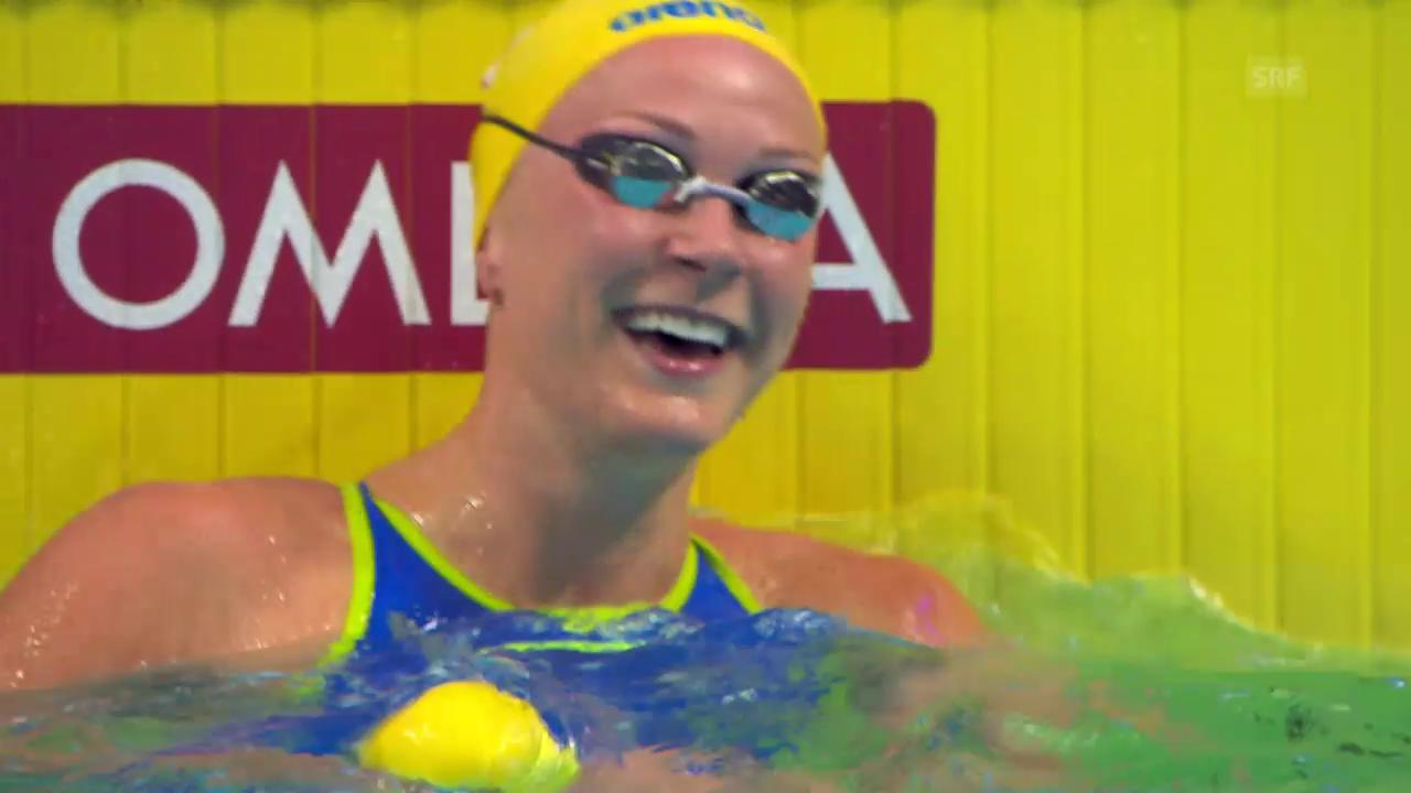 50 m Crawl: Sjöström schwimmt Weltrekord