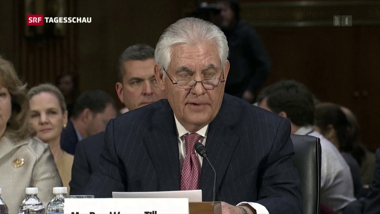 Nominierter US-Aussenminister Tillerson vor Ausschuss