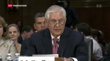 Video «Nominierter US-Aussenminister Tillerson vor Ausschuss» abspielen