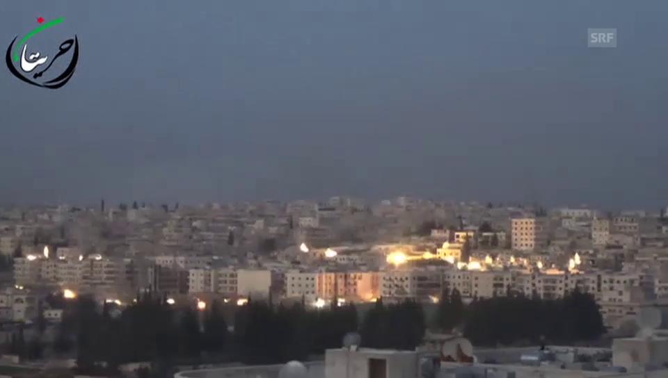 Abwurf von Streubomben über Aleppo (unkomm.)