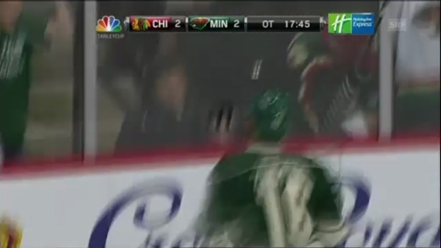 Video «Eishockey: NHL, Minnesota-Chicago 3:2 nV» abspielen