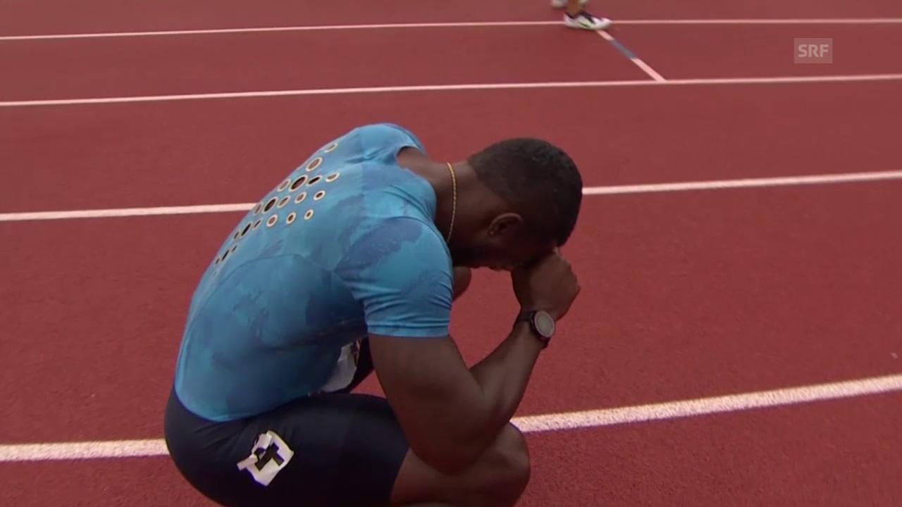 Leichtathletik: US-Trials 2015 in Eugene, 200 m mit Sieger Justin Gatlin