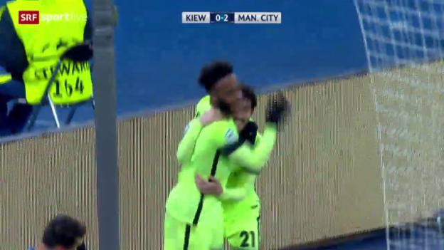 Video «3:1-Sieg: ManCity lässt bei Dynamo Kiew nichts anbrennen» abspielen