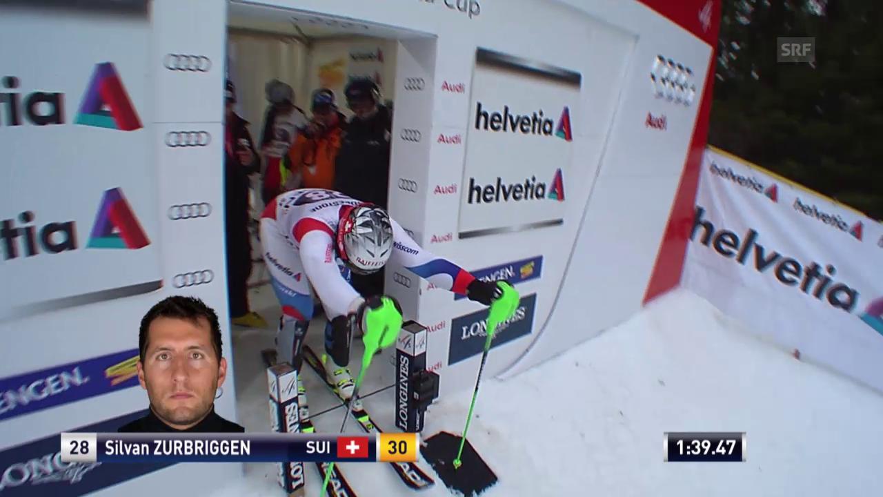 Ski: Der Kombi-Slalom von Silvan Zurbriggen in Wengen