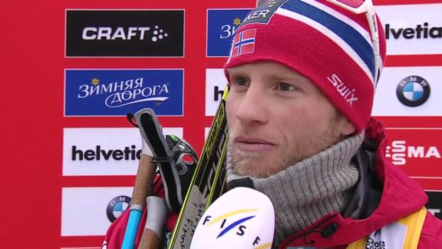 Video «Langlauf: Weltcup Lahti, 15 km, Sieg Sundby» abspielen