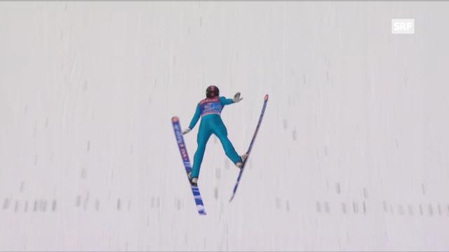 Springen Garmisch: 1. Sprung Jacobsen