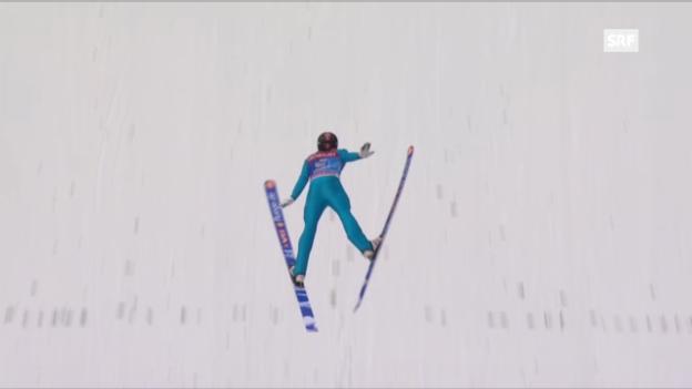 Video «Springen Garmisch: 1. Sprung Jacobsen» abspielen