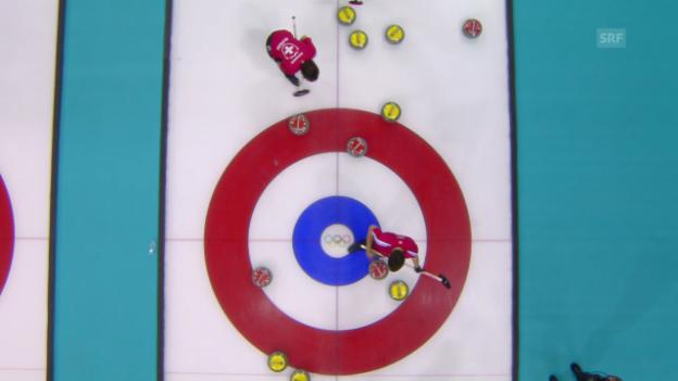 Video «Curling: Schweiz - Deutschland, letzter Stein (sotschi direkt, 14.02.2014)» abspielen