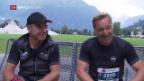 Video «Knauss und Girardelli stellen sich dem Jungfrau-Marathon» abspielen