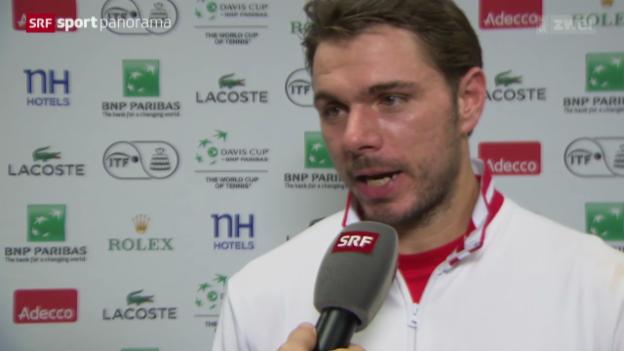 Video «Tennis: Federer und Wawrinka im Interview» abspielen