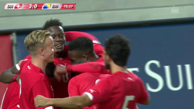 Video «Fussball: U21-Nationalmannschaft, EM-Qualifikation, die Tore bei Schweiz - Bosnien-Herzegowina» abspielen