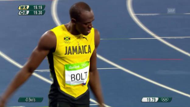 Video «Der 200-m-Final der Männer» abspielen