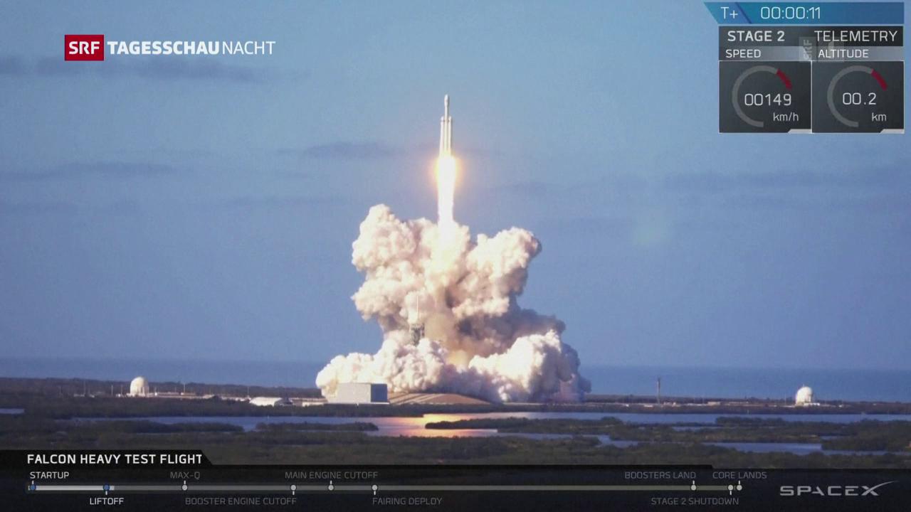 Elon Musks Falcon Heavy erfolgreich ins All gestartet