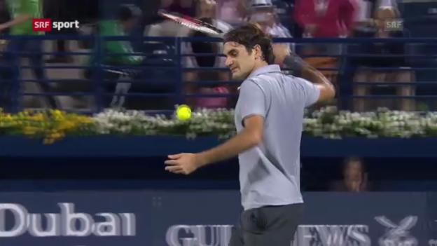 Video «Federer schlägt Dawidenko im Dubai-Viertelfinal» abspielen