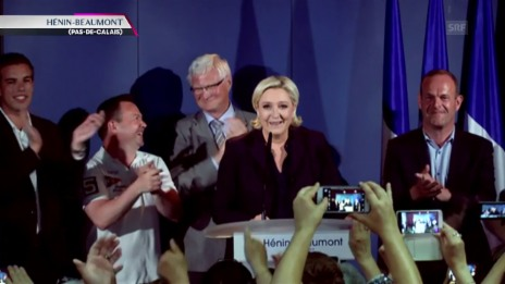 Video «Le Pen: Habe meinen Wahlkreis gewonnen» abspielen