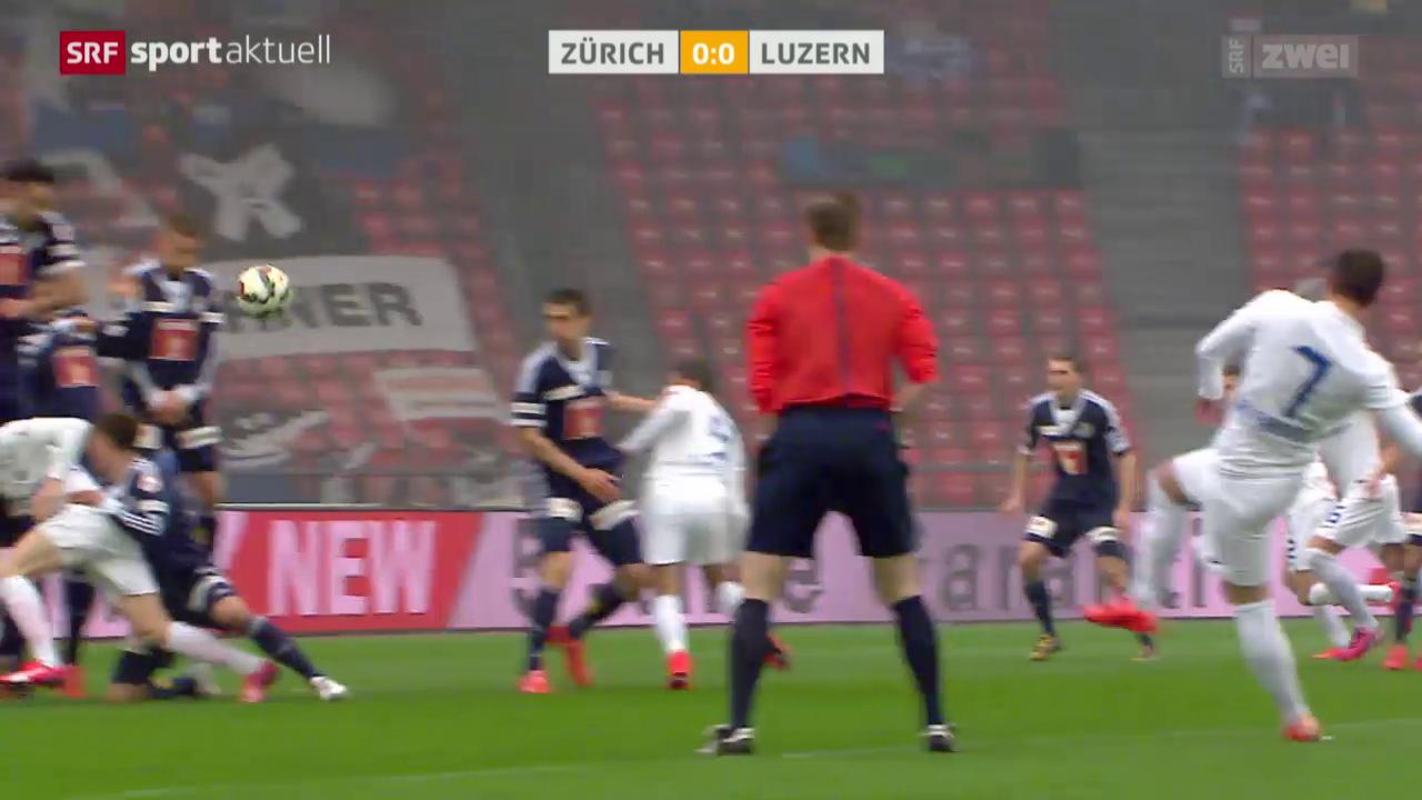 Fussball: Super League, Zürich - Luzern
