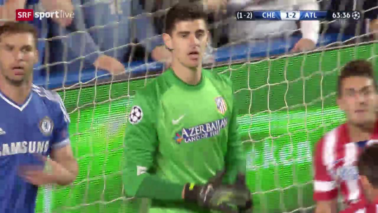 Champions League, Halbfinal-Rückspiel, Chelsea - Atletico, die besten Szenen von Goalie Courtois