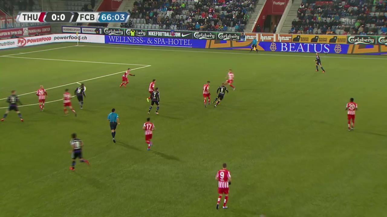 Fussball: Super League, Thun - Basel, 1:0 durch Janko