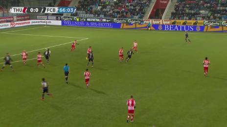 Video «Fussball: Super League, Thun - Basel, 1:0 durch Janko» abspielen