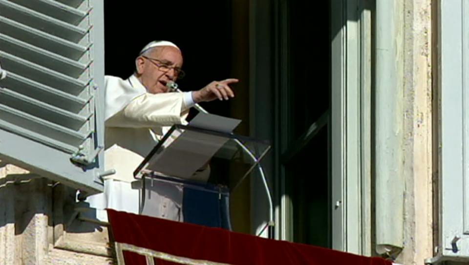 Der Papst beim Angelusgebet