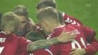 Video «Barrage-Hinspiel: Keine Tore bei Dänemark - Irland» abspielen