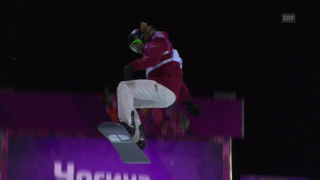 Snowboard Halfpipe: 1. Final-Run Ursina Haller (sotschi direkt, 12.02.2014)