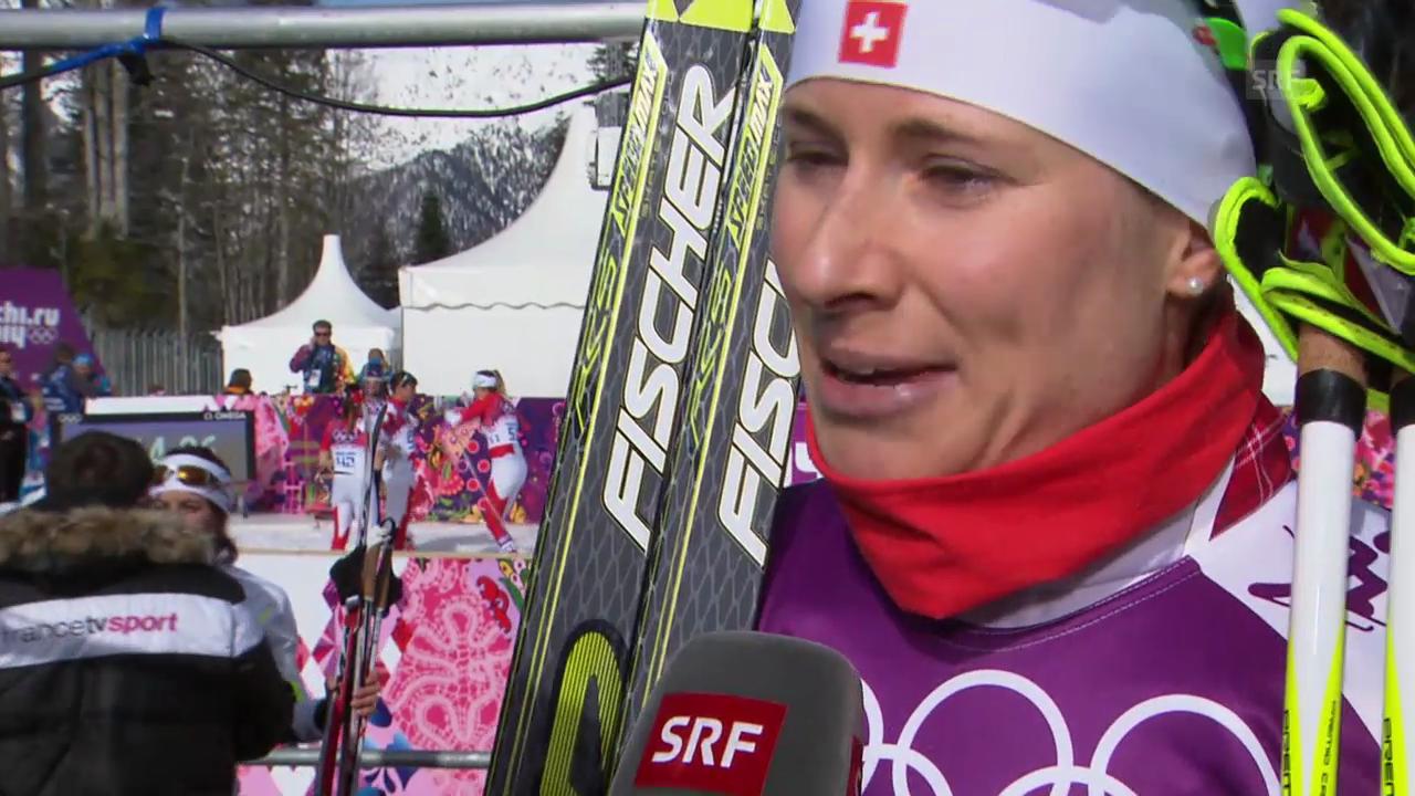 Langlauf: 30km der Frauen, Interview mit Seraina Boner (sotschi direkt, 22.2.2014)