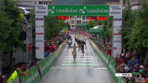Video «Rad: Zieleinlauf 3. Etappe der Tour de Suisse («sportlive»)» abspielen