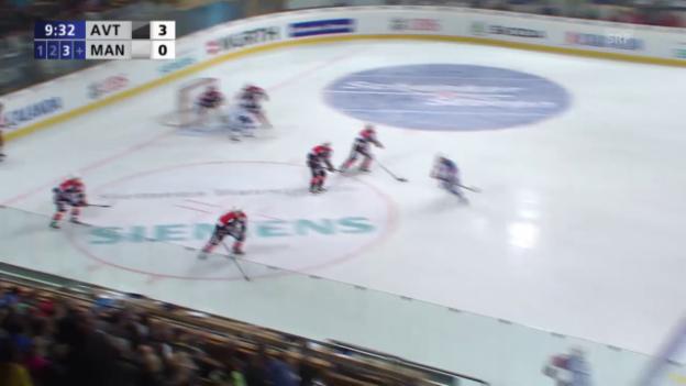 Video «Eishockey: Spengler Cup, Jekaterinburg - Mannheim, Tor zum 3:1» abspielen