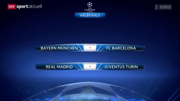 Video «Fussball: Auslosung Champions League und Europa League» abspielen