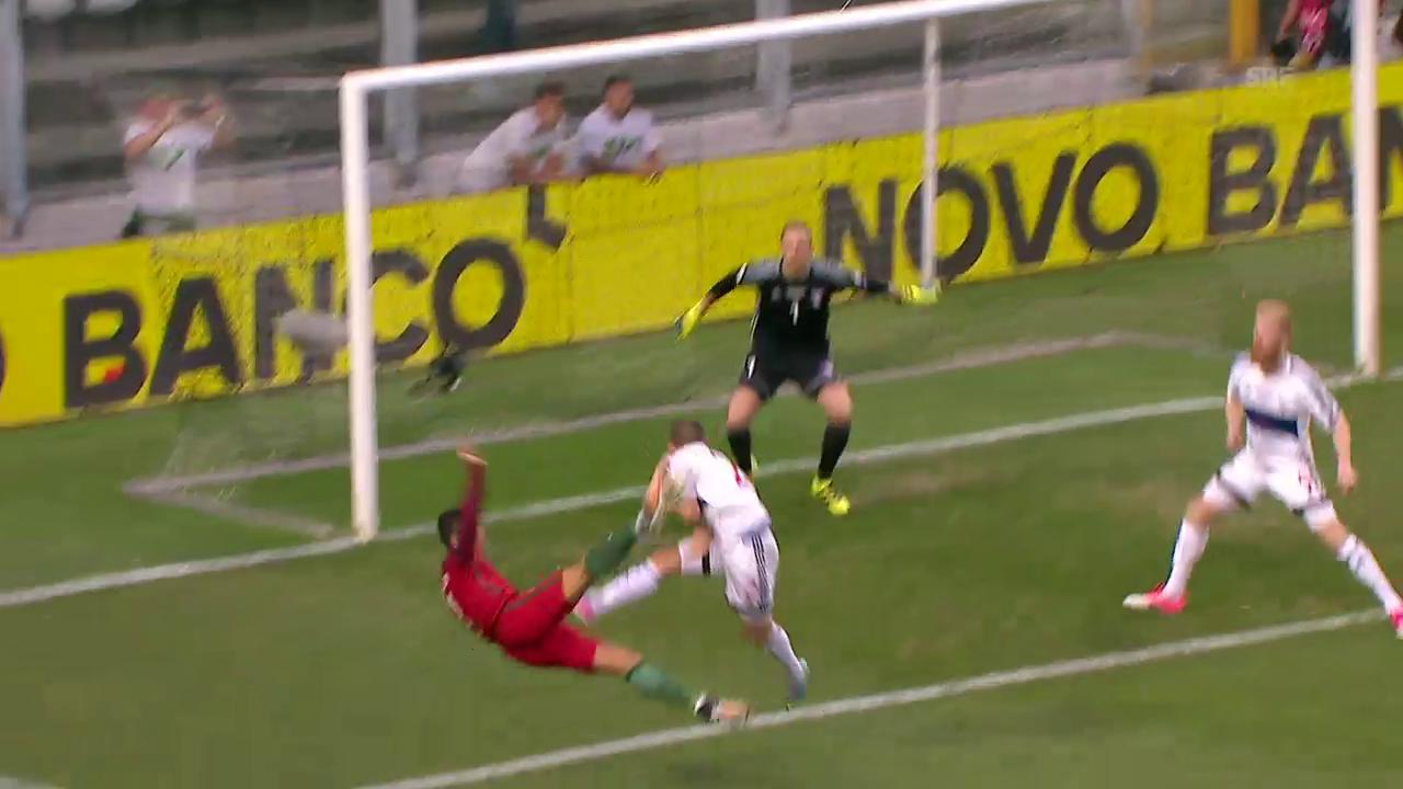 Akrobatisch: Ronaldo trifft gegen die Färöer per Bicicletta