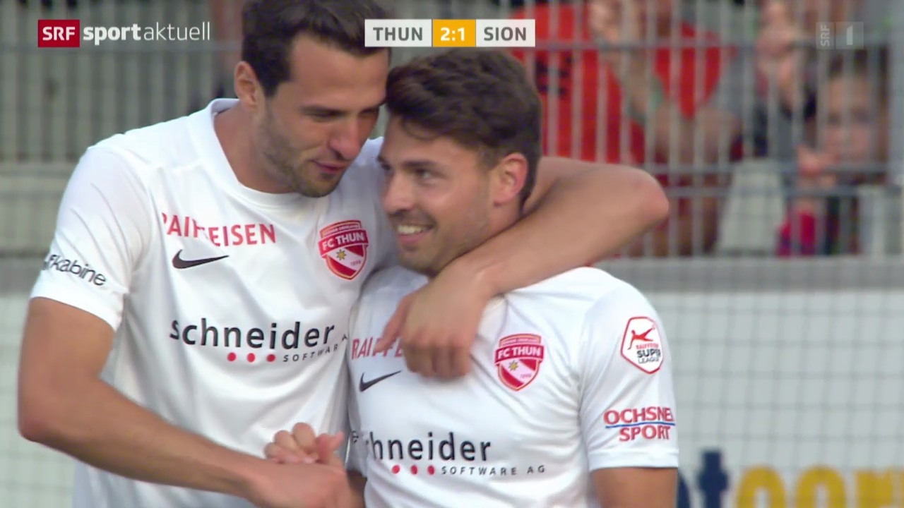 Fussball: Super League, Thun - Sion