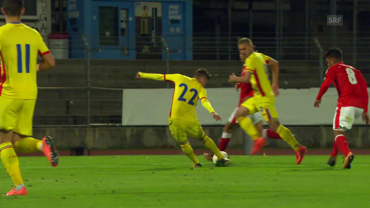 U21: Die Tore bei Schweiz - Rumänien