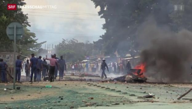 Video «Auschreitungen in Burundi» abspielen