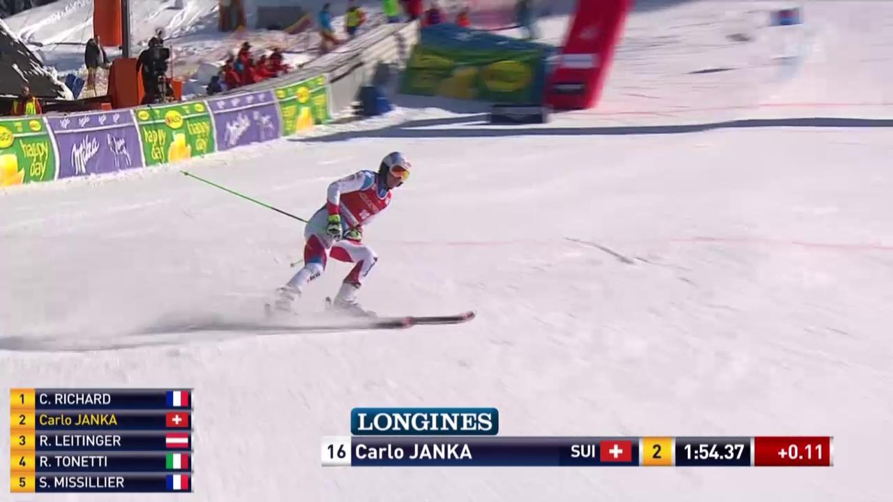 Carlo Janka im 2. Lauf von Kranjska Gora