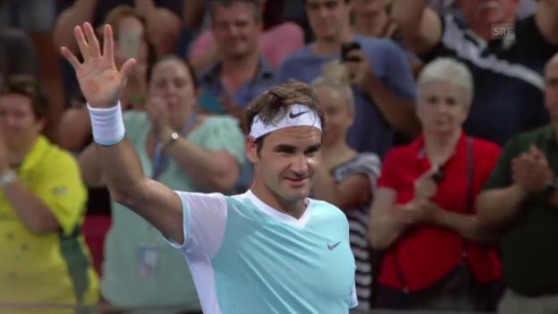 Video «Federers Halbfinaleinzug in Brisbane» abspielen