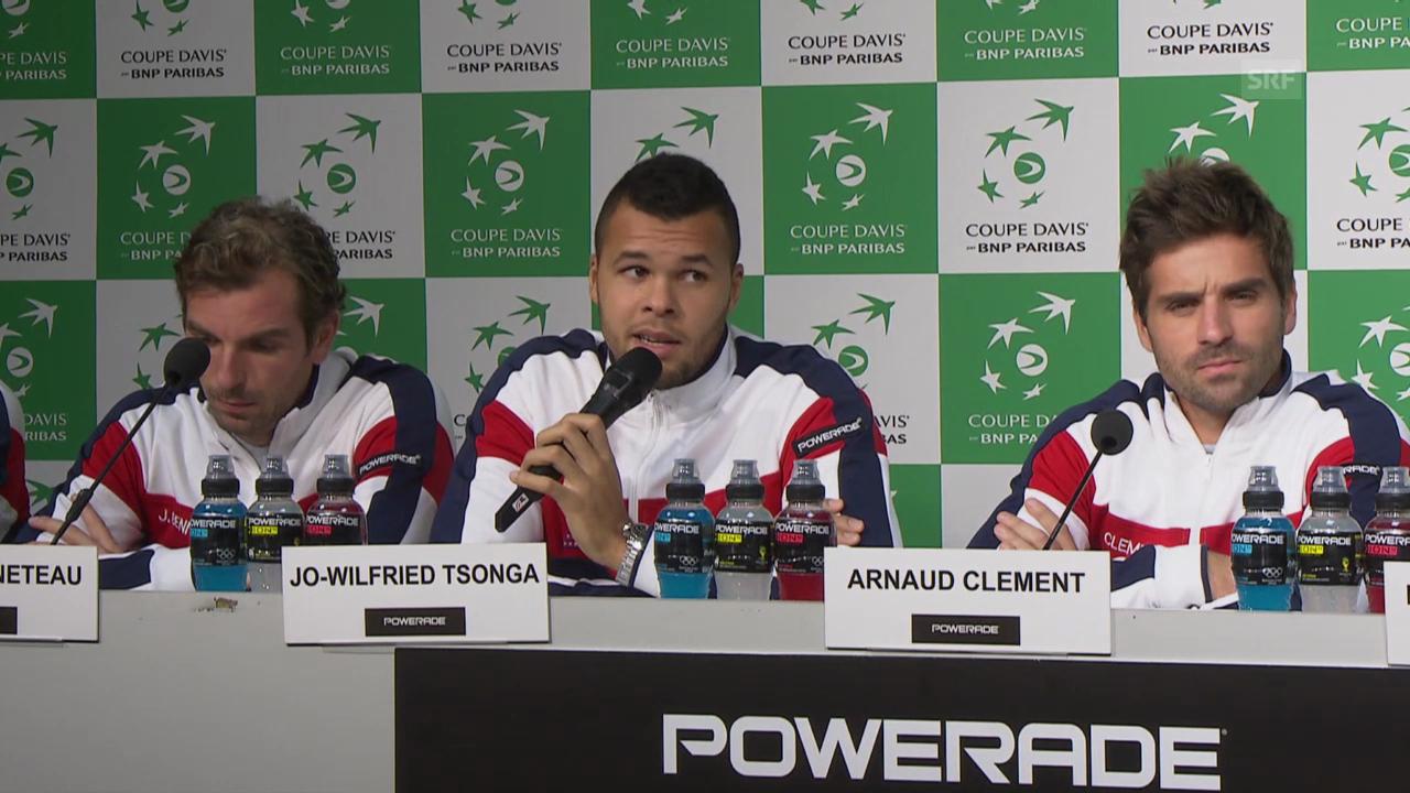 Tennis: Tsonga und Gasquet zur Situation der Schweizer (französisch)